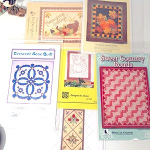 Other - Quilters Lot Grabbag 6 quilt patterns